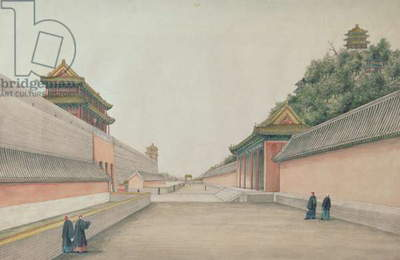 The Imperial Palace in Peking, from a collection of Chinese Sketches, 1804-06 (w/c on paper)