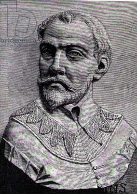 John Hawkins (1532-95) illustration from Volume III of 'Narrative and Critical History of America', 1886 (engraving)