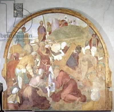 The Road to Calvary, lunette from the fresco cycle of the Passion, 1523-6 (fresco)