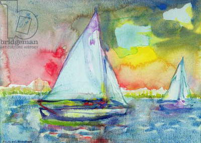 Sailboat Evening (w/c on paper)