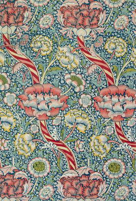 `Wandle` printed fabric, manufactured by Morris and Co. and Aymer Vallance, from `The Art of William Morris`, pub. 1897