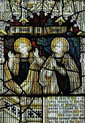 Stained glass window dedicated to Janetta, 7th Duchess of Rutland, South Transept (photo)