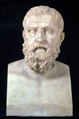 Portrait bust of Solon (c.640-559 BC), copy of Greek 4th century BC original (marble)