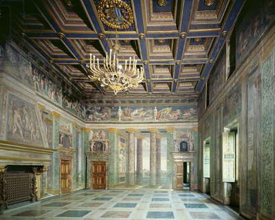 The 'Sala delle Prospettive' (Hall of Perspective) designed by Baldassarre Peruzzi (1481-1536) c.1510 (photo)