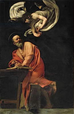 St. Matthew and the Angel, 1602 (panel)