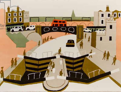 Camden Lock, 1975 (colour litho)