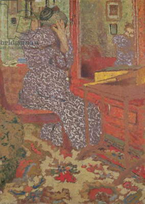 Madame Vuillard Arranging her Hair, 1900 (board)