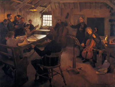 The Village Philharmonic, 1888 (oil on canvas)