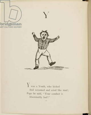 Screaming youth Illustrations and verses from Nonsense Alphabets drawn and written by Edward Lear.