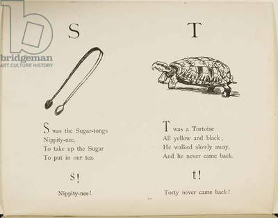 Sugar-tongues and tortoise Illustrations and verses from Nonsense Alphabets drawn and written by Edward Lear.