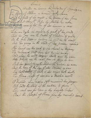 Poem and sketch by William Blake