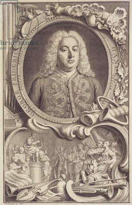 RM 7.f.5 George Frederick Handel (1685-1759), frontispiece to