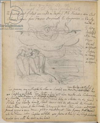 Sketch and poem of Blake