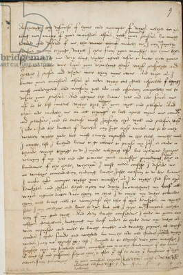 Letter from Katherine Parr to Henry VIII, July 1544. Extract from the letter: 'God, the knower of secrets, can judge these words not to be only written with ink, but most truly impressed in the heart'. Queen Katherine Parr to King Henry VIII. in his absence, full of duty and respect, and requesting to hear from him. No date.