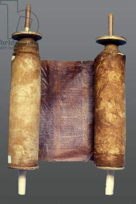 Torah scroll (wood & parchment)