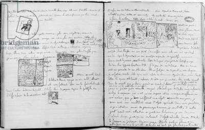 Pages from Edouard Vuillard's diary, 1890-1940 (pen & ink on lined paper) (b/w photo)