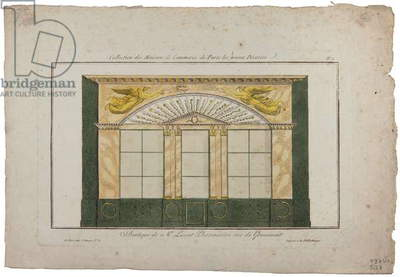 Boutique of M. Lescot, Pharmacist, rue de Gramont, Paris (coloured engraving)