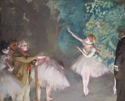 Rehearsal of the Ballet, c.1876 (gouache & pastel over monotype on paper)