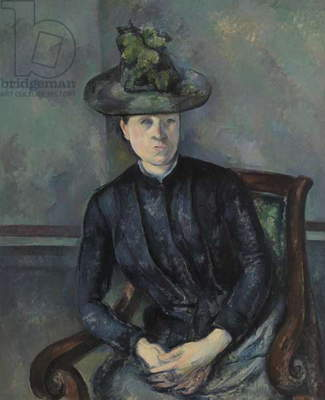 Madame Cezanne with Green Hat, 1891-92 (oil on canvas)