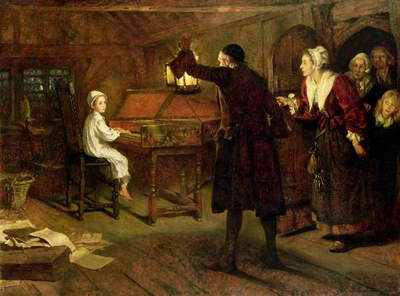 The Child Händel, Discovered by his Parents, 1893 (oil on canvas)