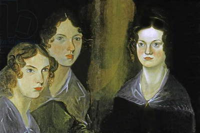 Detail of Portrait of the Bronte Sisters, c.1834 (oil on canvas)