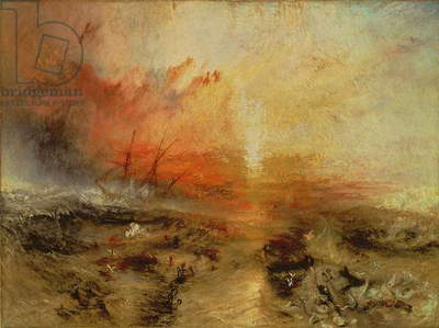 Slave Ship (Slavers Throwing Overboard the Dead and Dying, Typhoon Coming On) 1840 (oil on canvas)