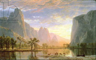 Valley of the Yosemite, 1864 (oil on paperboard)
