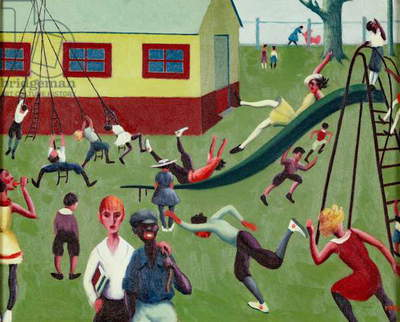 Playground (Recess), 1940 (oil on canvas)