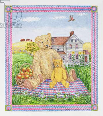 The Teddy Bears' Picnic (w/c on paper)