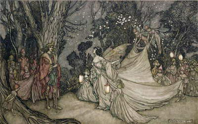 The Meeting of Oberon and Titania, 1905 (w/c & ink on paper)