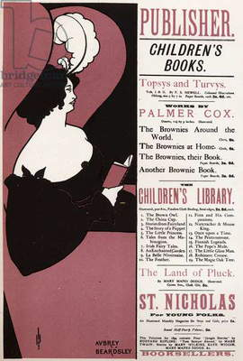 Literature. Children's book. Library in London. Poster by Aubrey Beardsley, England, 1894. (poster)