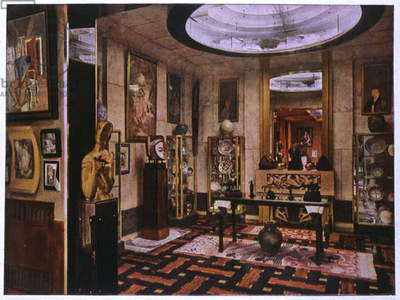 Art. Architecture. The eastern cabinet in the villa of french fashion designer Jacques Doucet, Neuilly, France. Photo, France, vers 1930 (photo)