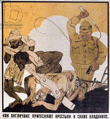 How English treated Slaves in their Colonies, Poster, URSS, c.1920-1930