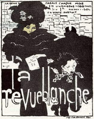 Art. The Revue Blanche. Poster by Pierre Bonnard, France, 1896. (poster)