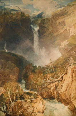 The Great Falls of the Reichenbach, 1804 (w/c on paper)