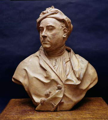 Portrait bust of George Frederick Handel (1685-1759) (terracotta)
