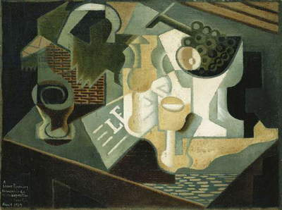 The Table in Front of the Building; La Table Devant le Battiment, 1919 (oil on canvas)