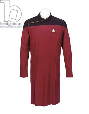 Riker's first season-style starfleet dress uniform, worn by Jonathan Frakes as William Riker in 'Star Trek: the Next Generation', 1987-94 (textile)