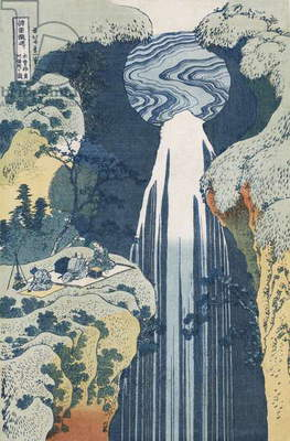 Amida Waterfall on the Kiso Highway, from the series 'A Journey to the Waterfalls of all the Provinces' (colour woodblock print)
