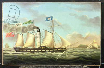 The Steam Packet 'Saint Patrick' On The Liverpool To Dublin Run, 1827 (oil on canvas)