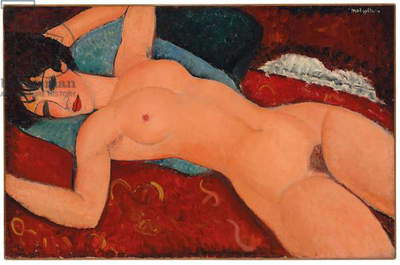 Reclining nude, 1917-18 (oil on canvas)