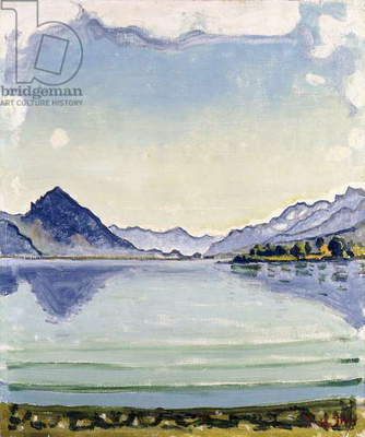 Thunersee at Leissingen, 1909 (oil on canvas)