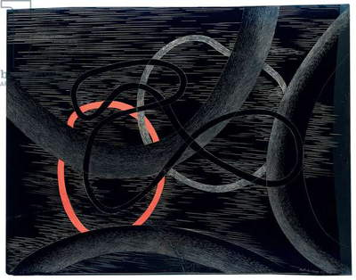 Composition, 1939 (oil on incised plexiglass)
