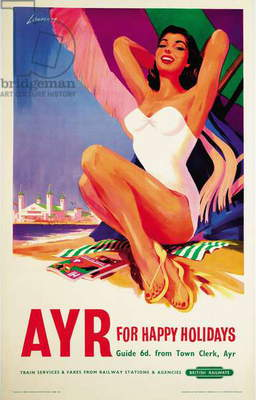 Ayr, poster advertising British Railways, 1959 (colour litho)