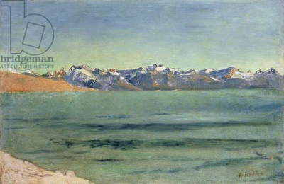 Sunrise Over Mont Blanc, c.1890 (oil on canvas)
