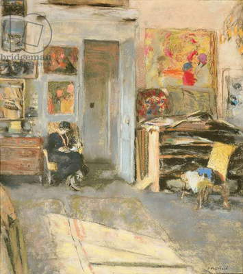 Madame Josse Hessel in Vuillard's Studio, 1915 (pastel on paper)