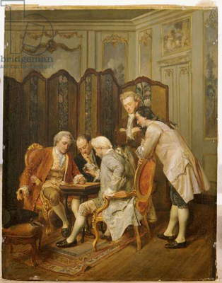The Backgammon Players, 1866 (oil on panel)
