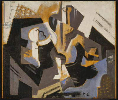 Cubist Still Life in Blue and Grey, c.1917 (oil on board)