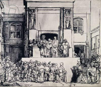 Christ Presented to the People, 1655 (drypoint)