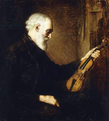 The Violinist,  (oil on canvas)